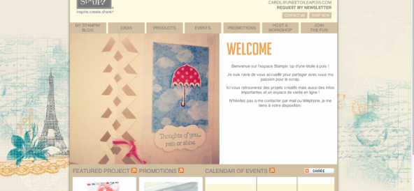 Ma boutique en ligne Stampin'up