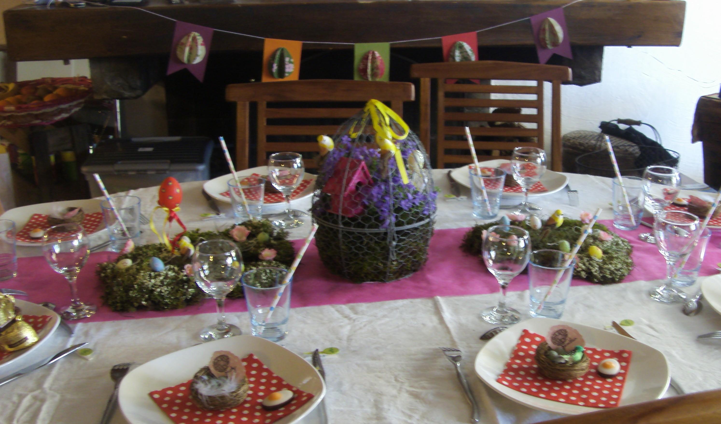 décoration de table thème paques #3